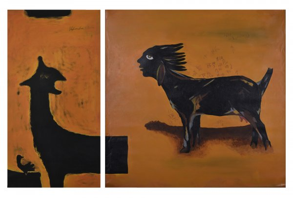 SHIKAST ' THE DEFEAT' -II- A & B (DIPTYCH)