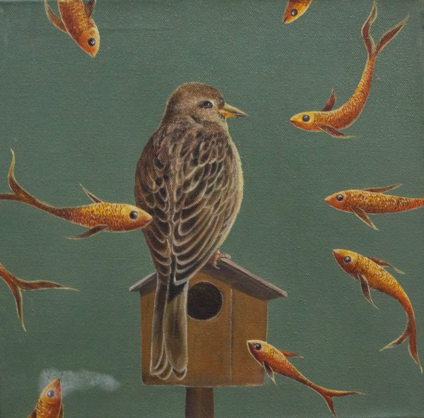 BIRD PAINTING ON CANVAS