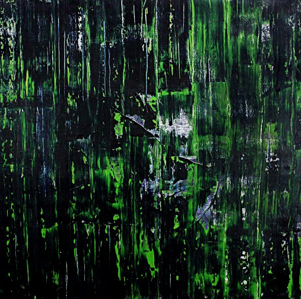 Abstract Green Painting Original Wall Art