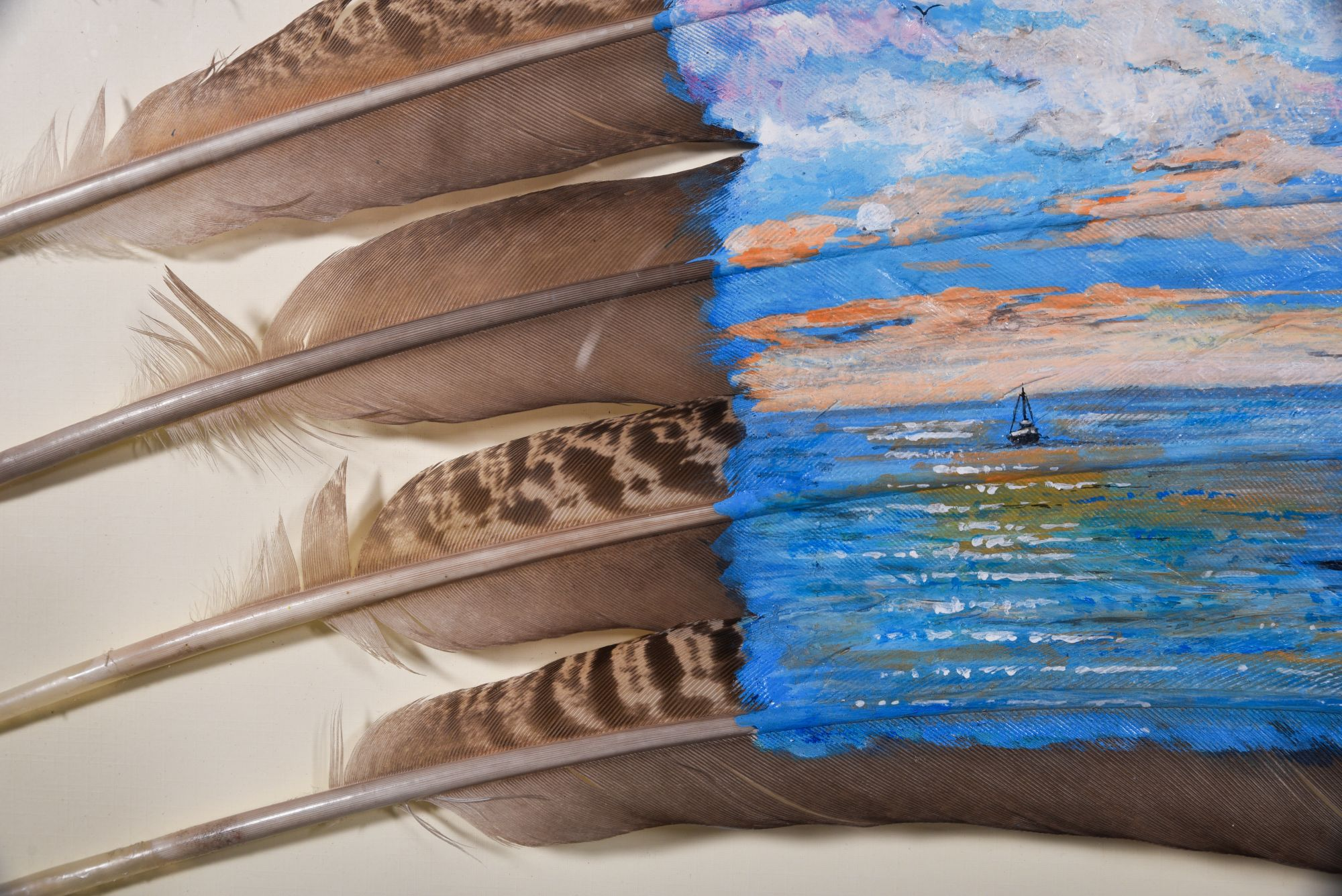 UNTITLED FEATHER PAINTING